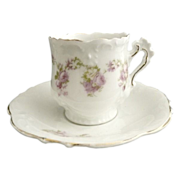 Victorian demitasse cup and saucer Elysee mold