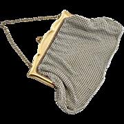 Art Deco mesh purse gold brass Whiting Davis