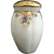 Pickard Porcelain muffineer hand painted violets gold