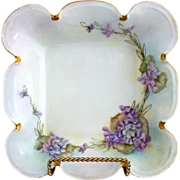 Edwardian Rosenthal bowl hand painted violets c. 1910