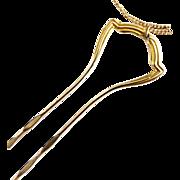 Edwardian hair pin pince nez