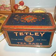 A Vintage Advertising  TETLEY TEA TIN Featuring Elephant