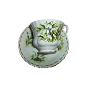 Flower Month  Royal Albert Tea Cup Saucer January  Snow Drops