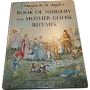 Book of Nursery and Mother Goose Rhymes Marguerite de Angeli's