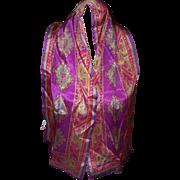 SALE Oscar de la Renta Decorative 100 % Silk Scarf Fringed Ends