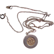 SALE Designer Kupittaan Kulta M Inital Pendant Necklace Sterling Silver