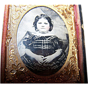 Ambrotype Type Photograph of a Young Child / Girl