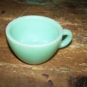 Heavy Jadite Jadeite Restaurant Ware Mug
