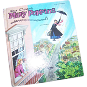 Vintage Children's Book Walt Disney's Mary Poppins Supercalifragilisticexpialidocious