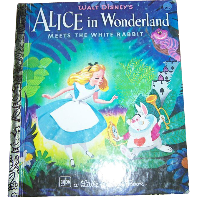 Walt Disney;s Alice In Wonderland Children's Book Golden Press from ...