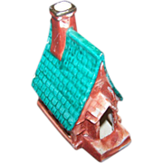 Novelty Hand Painted Ceramic Smoker Ashtray Church