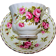 Royal Albert Tea Cup and Saucer Roses June