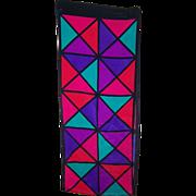 SALE Brightly Colored Geometric Print Ladies Rectangular Scarf