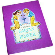 "SALE Paperback Vintage Book  Booklet  "" A Child's Garden of Prayer """