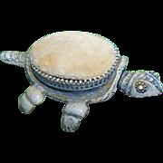 Figural Nodder Bobbing Head Turtle Pin Cushion Designed by FLORENZA