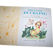 "Children's Collectible Vintage Book "" The Fuzzy Duckling """