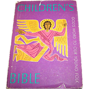 Vintage Book Children's Bible God's Word to our Young Folk