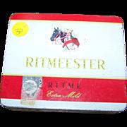 Collectible Ritmeester Cigar Tobacco Advertising Tin Box Horse