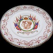 SOLD Cauldon England Royalty Plate 1937 George VI & Elizabeth For Harrod's Dept Store Lond