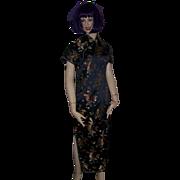 SALE Kaiyu Embroidered Geisha Girl Dragon Cheongsam Dress Ladies Medium