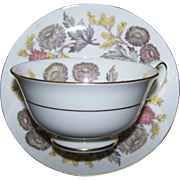 Lichfield Floral Tea Cup & Saucer Set Wedgwood Bone China