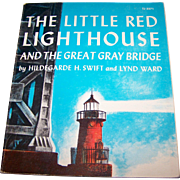 """Paperback  Book Booklet """" The Little Lighthouse and The Great Gray Bridge """""""