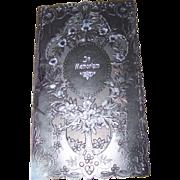 Vintage Sentimental Post Mortem  In Memoriam  Black Paper Booklet