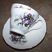 New Brunswick  Canada Tea Cup & Saucer Violet Floral Motif