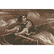 SOLD Sheahan's Famous Picture Post Card Postcard Grace Darling To The Rescue