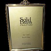 Lovely Vintage Hand Polished Solid Brass Picture Frame