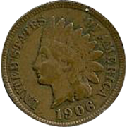 Collectible Vintage 1906 Indian Head Cent 1 Penny Coin