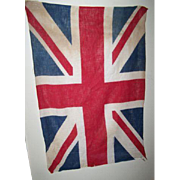 Made In England Cotton Union Jack Flag WWII