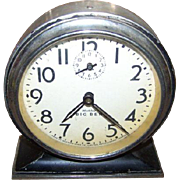 SOLD Vintage Metalware Glass Repeater Alarm Clock Big Ben Westclox