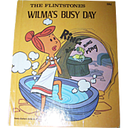 "The Flintstones "" Wilma's Busy Day "" Hanna-Barbera Authorized Edition Deluxe Wonder"