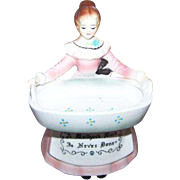 Charming Collectible Vintage Enesco Prayer Lady Ceramic Scouring Pad Holder