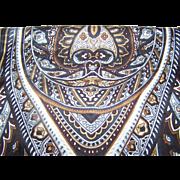 Pretty Designer Signed Anne Klein Long Rectangular Paisley Print Scarf