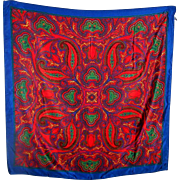 Pretty Paisley Pattern Ladies Fashion Scarf 100 % Polyester Made in Italy