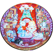 """Fine Porcelain Collector Plate  Franklin Mint """" Whisker Wuv """" Bill Bell Kitty Cats"""
