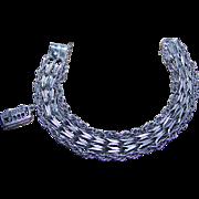 Chunky Vintage Sterling Silver Charm Bracelet Stamped EJ Ster