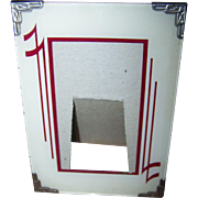SOLD Deco Era Style Reverse Painted Glass Photo Picture Frame Easel Back