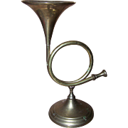Vintage  Novelty Home Decor Hand Made In Indian Brass Metalware Horn Candle Holder