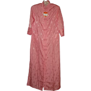 Oh What A Pretty Vintage Youth Shanghai China Pink House Coat Sz Small