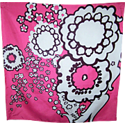 What A Fun Pop Art Floral  Style  Silk Scarf Rolled Edge Wearable ART