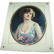 Lovely Vintage Deco Era Reverse Painted Photograph Picture Frame with Print