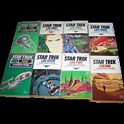 Lot of STAR TREK Logs of the STARSHIP ENTERPRISE Soft Cover Books Ballantine Science Fiction