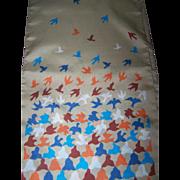 Sweet Bird Themed Polyester Ladies Long Rectangular Fashion Scarf
