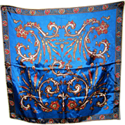 SALE PENDING High Quality Hand Printed Scarf Paisley Style