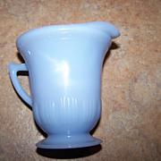 Collectible Blue  Pyrex  Pie Crust Delphite Glass Creamer