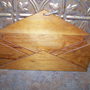 Vintage Wooden Letter / Pamphlet  Holder
