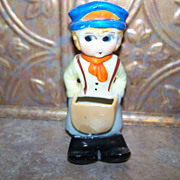 Vintage Ceramic Novelty Figural Toothbrush Holder MIJ